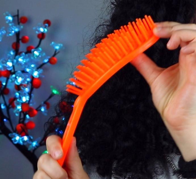 Escova de Cabelo Flexível para cacheadas