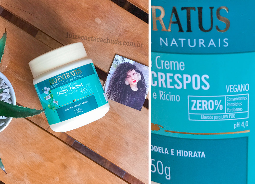 Banho de CremeBio Extratus Cachos & Crespos