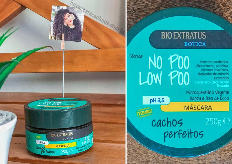 Máscara Bio Extratus Botica Cachos Perfeitos
