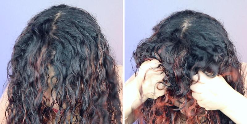 Como secar o cabelo com a peneira - passo 4