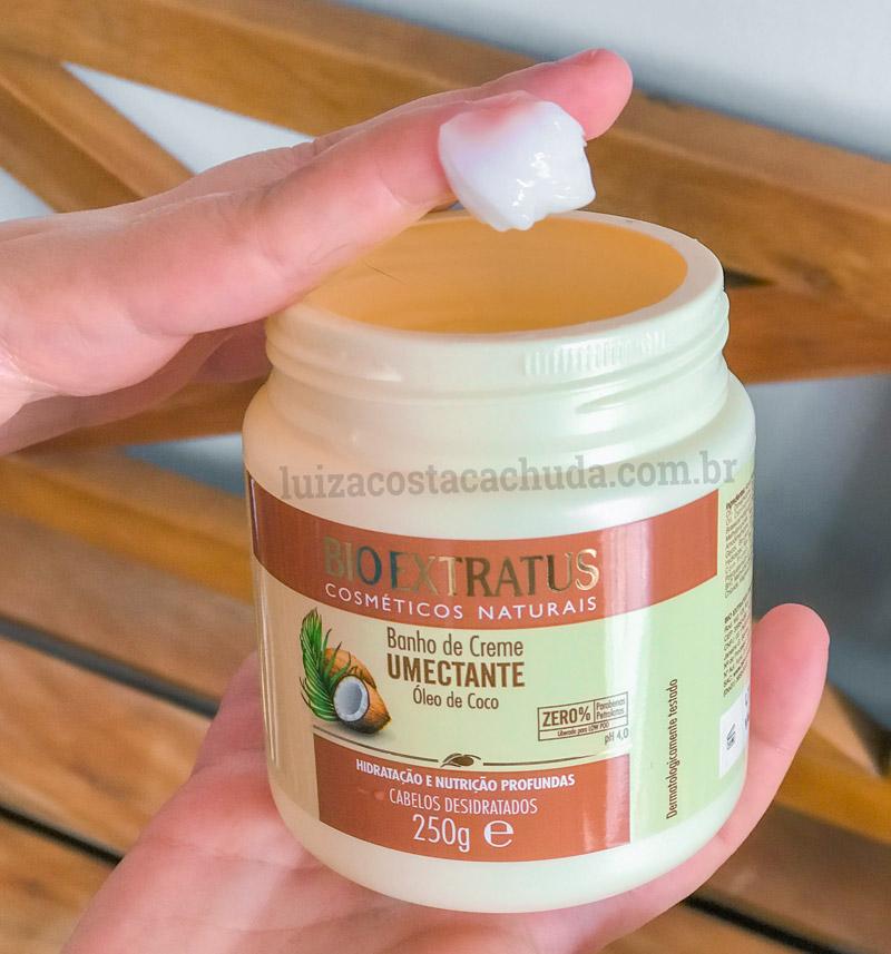 resenha Banho de Creme Bio Extratus Umectante Óleo de Coco - textura