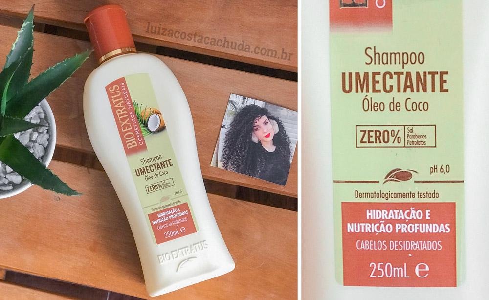 resenha Shampoo Bio Extratus Umectante Óleo de Coco