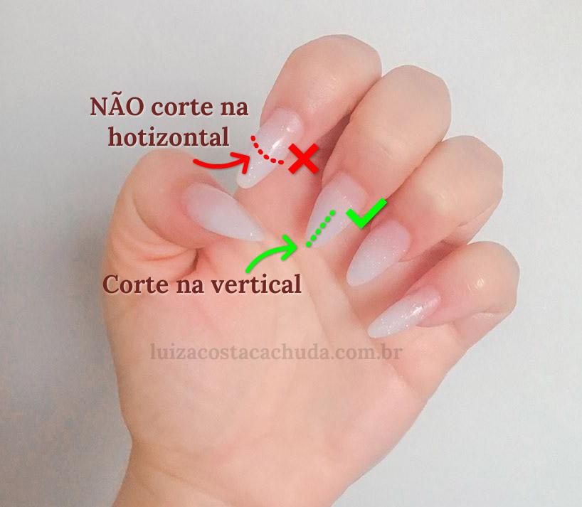 retirar alongamento de unhas