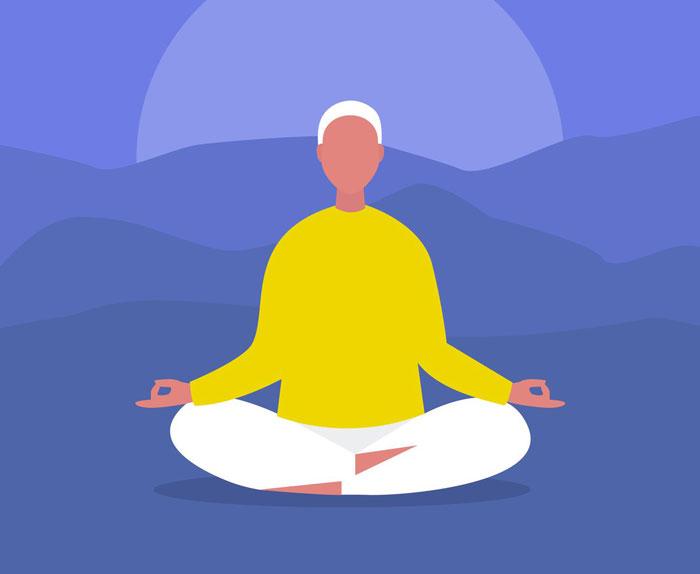 Como meditar para iniciantes - posição de lótus