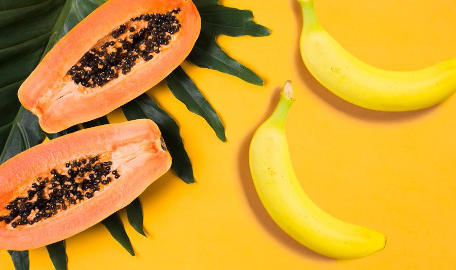 hidratação capilar caseira de banana com mamão