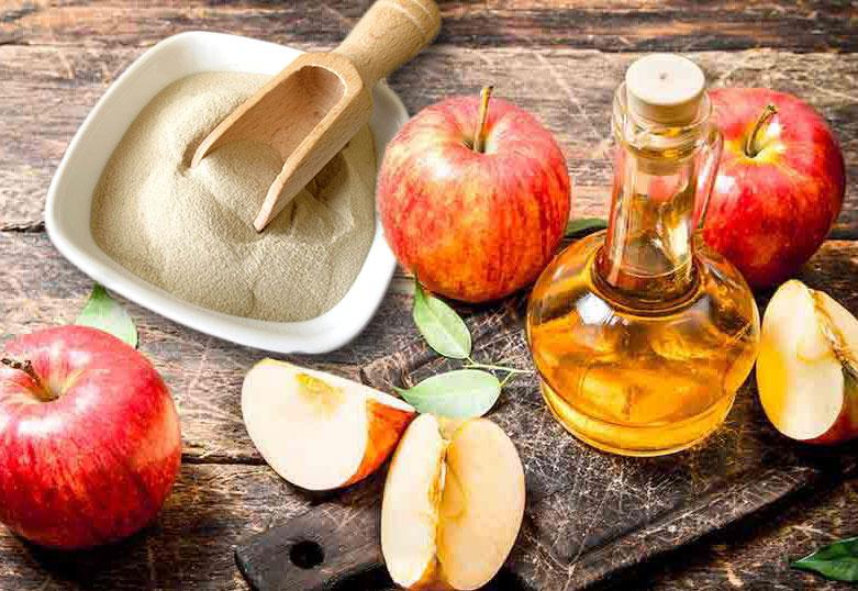 reconstrução caseira com gelatina e vinagre de maçã
