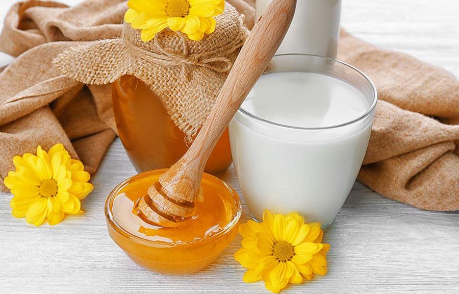 reconstrução caseira com leite e mel