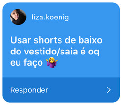 atrito entre as coxas - short por baixo