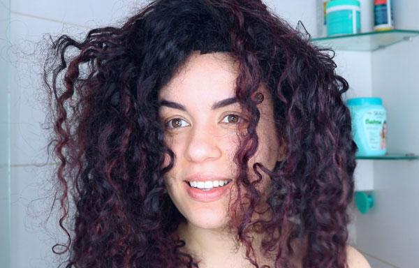 resenha creme skala babosa - cabelo antes