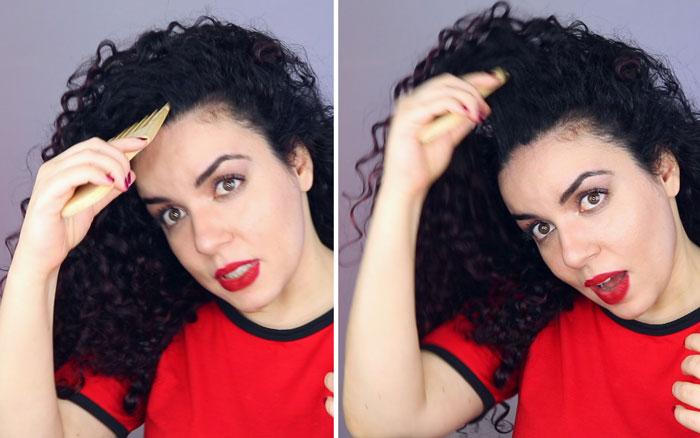 como dar mais volume no cabelo - pente garfo