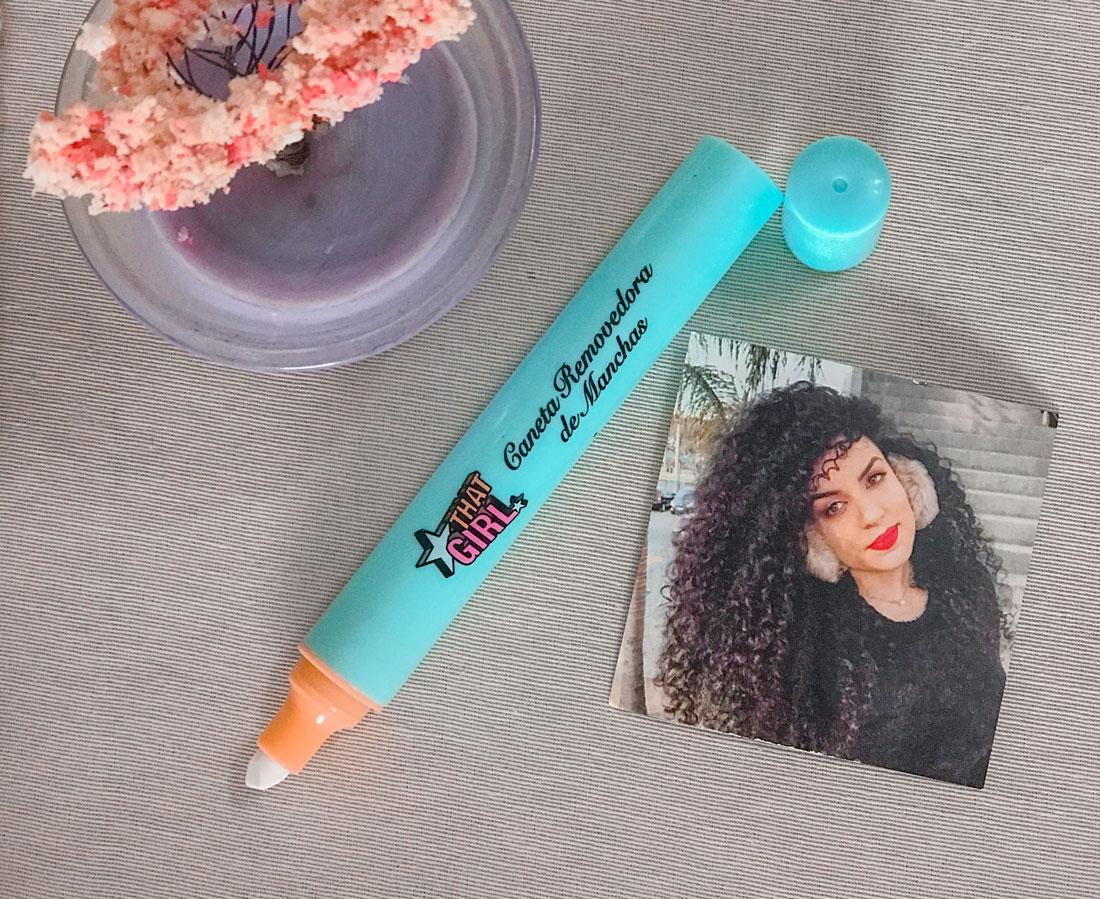resenha caneta removedora de manchas that girl