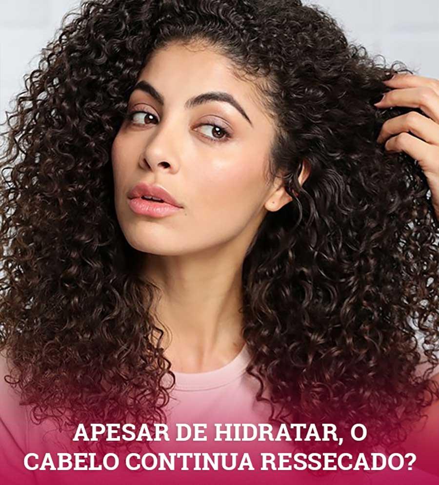 APESAR DE HIDRATAR O CABELO CACHEADO CONTINUA RESSECADO
