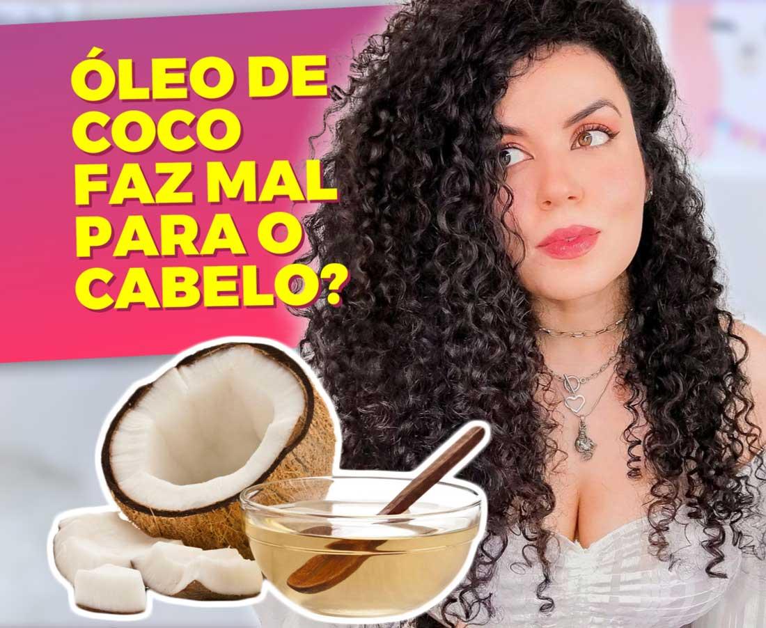 óleo de coco faz mal para os cabelos