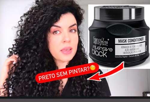 Resenha matizador tonalizante Forever Liss Intensive Black para cabelos pretos
